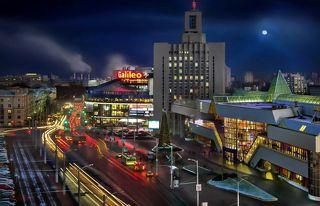 Городская панорама привокзальной площади