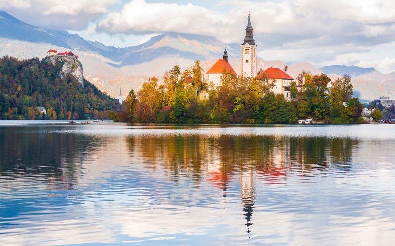 блед,озеро,церковь, словения ***photo preview