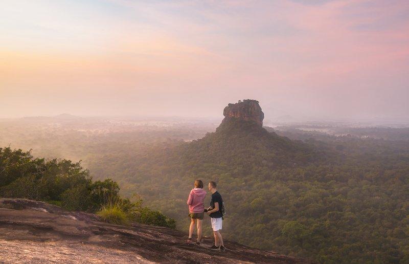 sigiriya, sri-lanka, sunrise, шри-ланка, цейлон, сигирия, рассвет Sigiriya Rock in the morningphoto preview