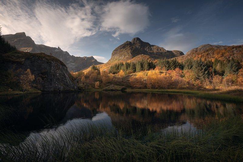 рейне, пляж, норвегия, лофотенские острова, море, пейзаж, природа, nikon, закат Осень в Норвегииphoto preview