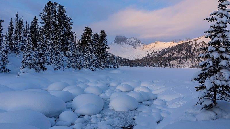 ергаки ручей светлый зима Величиеphoto preview