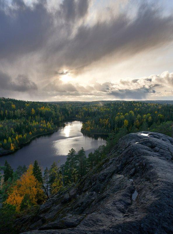 Карелия, осень, озеро \