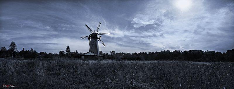 панорама,мельница,природа,путешествие старая мельницаphoto preview
