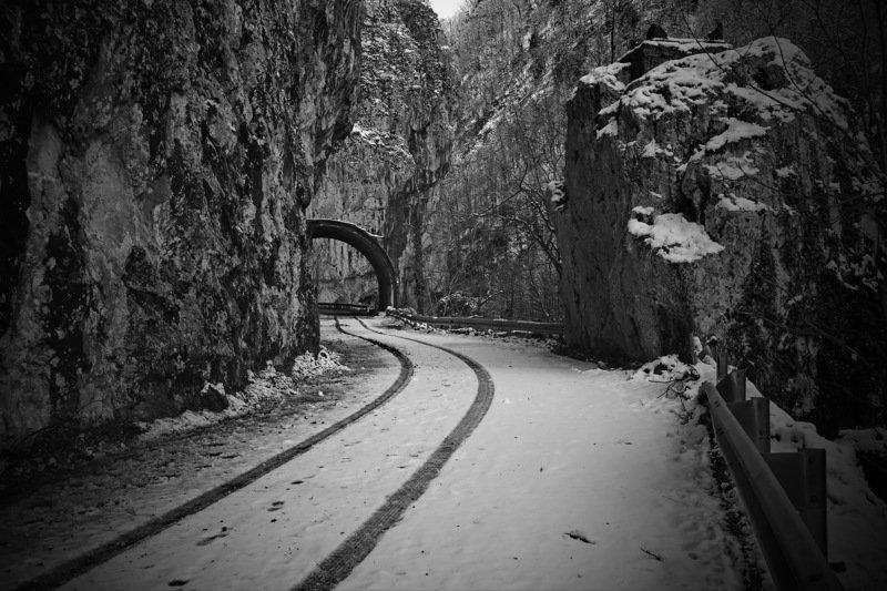 горы дорога зима Горная дорога.photo preview