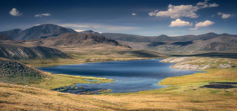 пейзаж, панорама, горы, озеро, алтай, сибирь, природа, путешествия, буйлюкем Просторы Буйлюкемаphoto preview