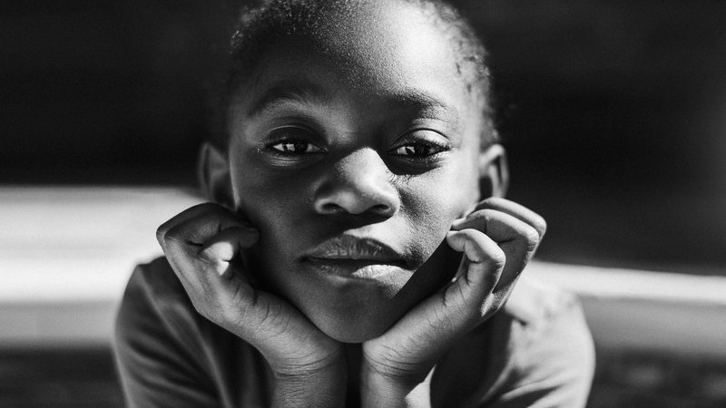 kids,portrait,blackandwhite,africa,blackpeople,southafrica, African girlphoto preview