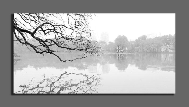 Sương giăng mặt hồ photo preview