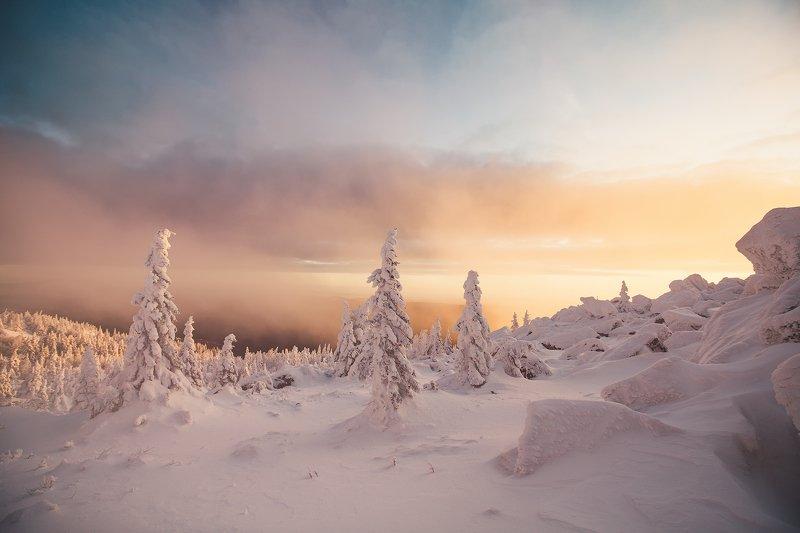 Таганай, восход, утро, горы, зима, Урал Спасибо за утро такоеphoto preview
