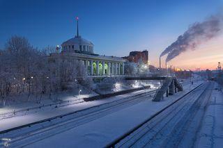 Железнодорожный вокзал города Мурманск