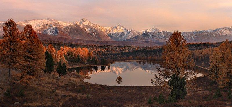 природа, пейзаж, горы, озеро, киделю, алтай, вечер, закат Как упоительны в России вечера...photo preview