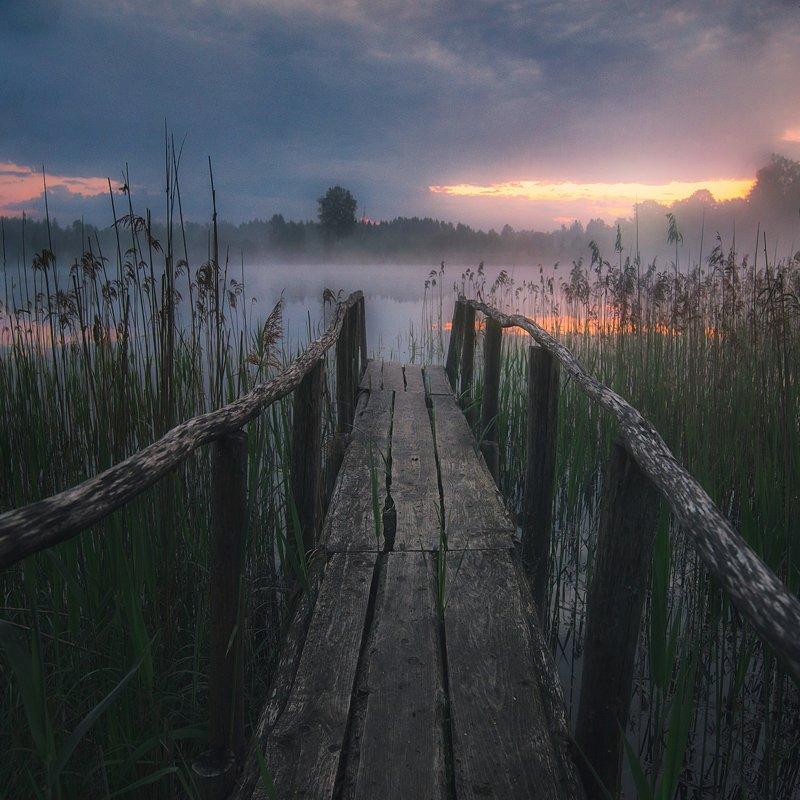 lake,sunrise,fog,mist,beautiful Morningphoto preview
