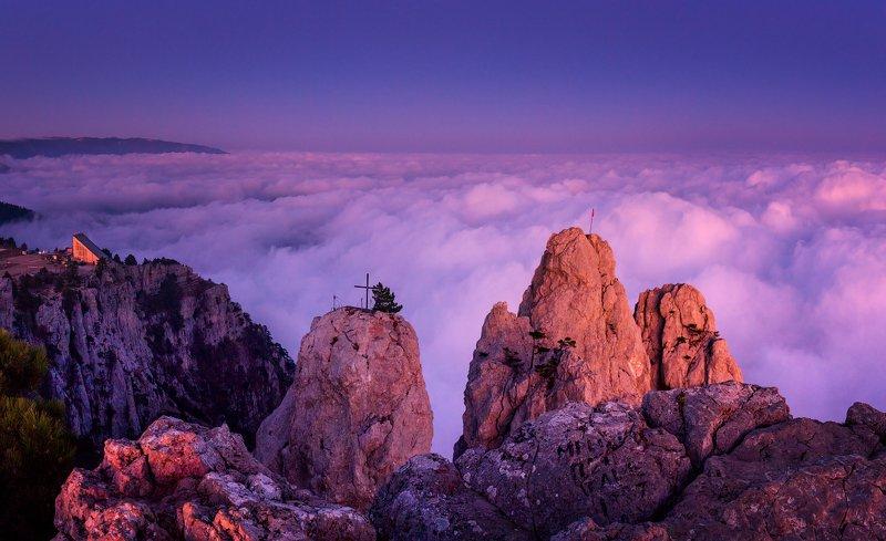 крым, ай-петри, закат, облака, горы, над облаками, Закат на Ай-Петриphoto preview
