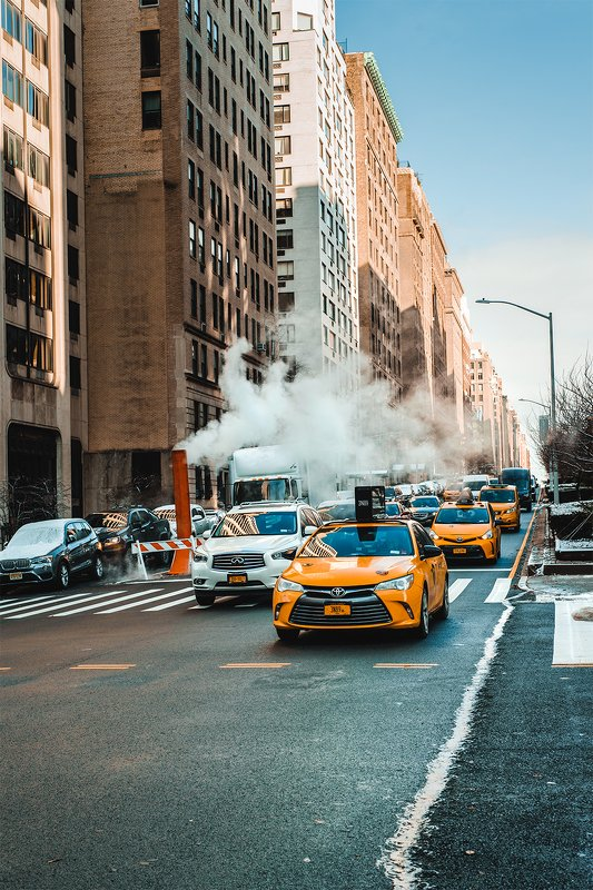 нью-йорк сша америка уличное фото путешествие  Желтое таксиphoto preview