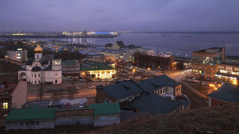 Вечер на Стрелке. Нижний Новгород.photo preview