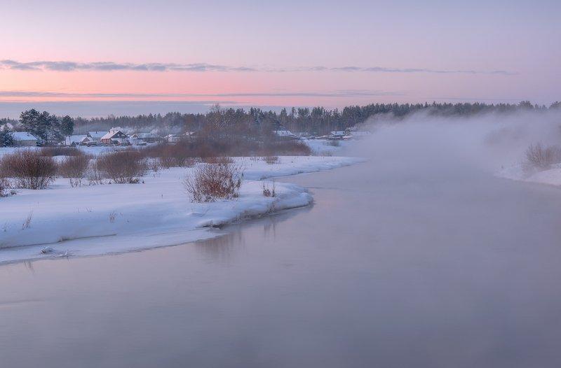 зима закат река Жизнь у рекиphoto preview