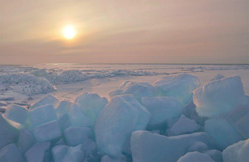 сахалин, лёд, зима, лед, зинаида макарова, zinaida makarova Свечениеphoto preview