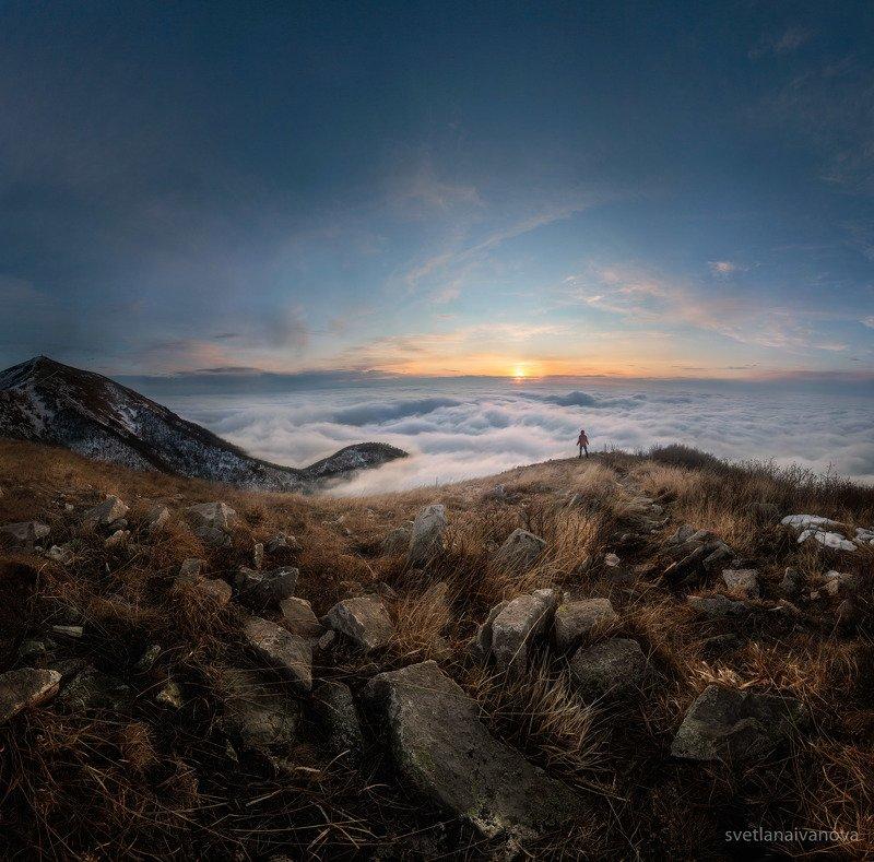 Облачный закат на Бештауphoto preview