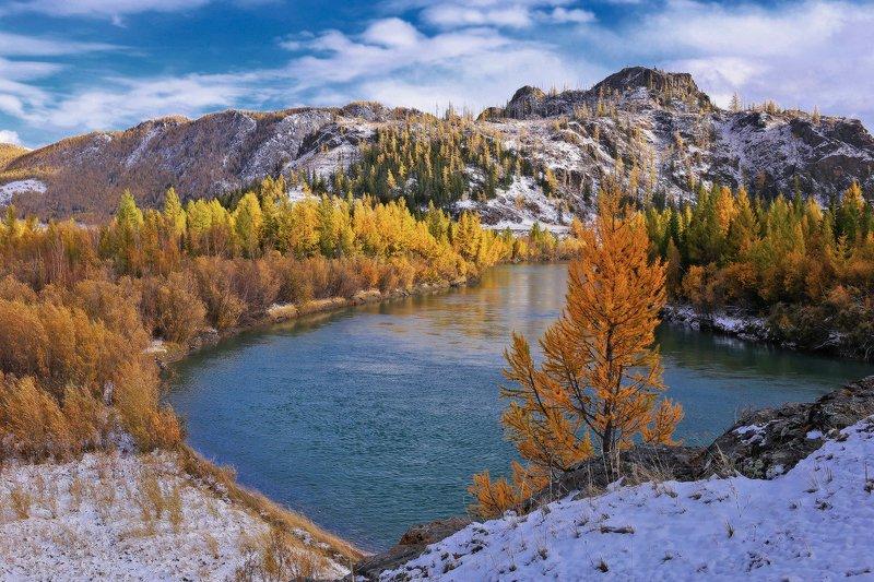 алтай, горный алтай, горы, сибирь, курай Первый снегphoto preview