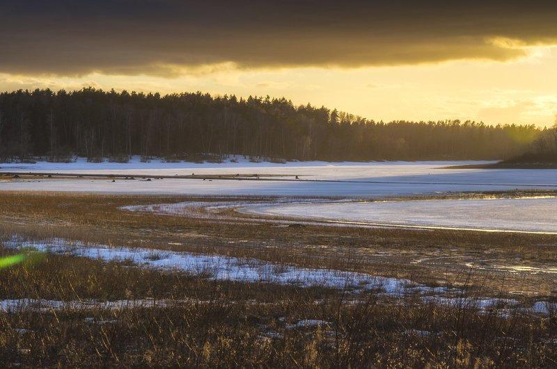 природа,пейзаж,лед,зима,закат ***photo preview