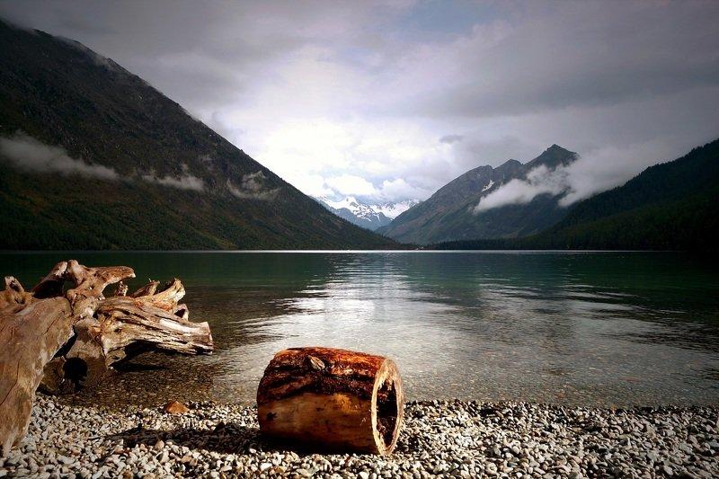 природа  алтай  озеро горы облака туман пейзаж путешествие тени отражение мультинские озера нижнее мультинское Нижнее Мультинское озеро...photo preview