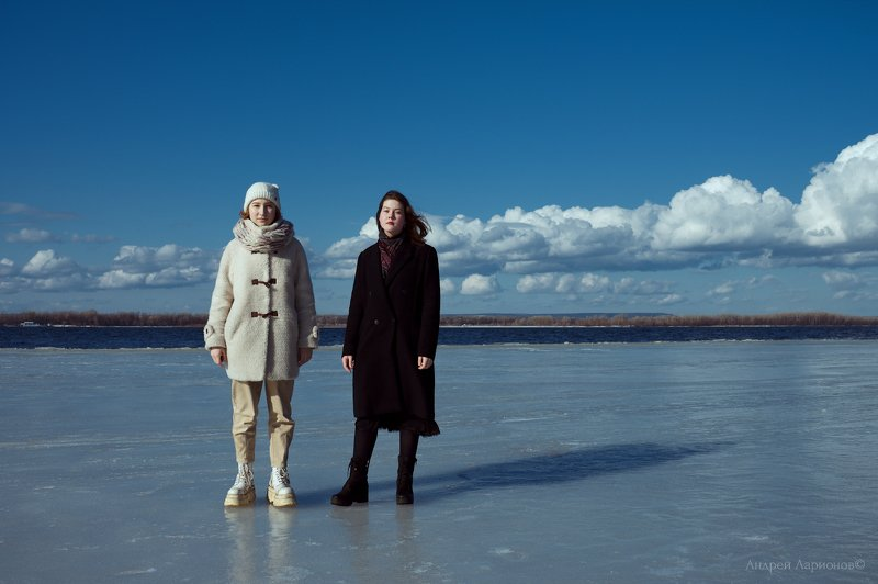 лед, девушки, портрет, весна. река, андрейларионов photo preview