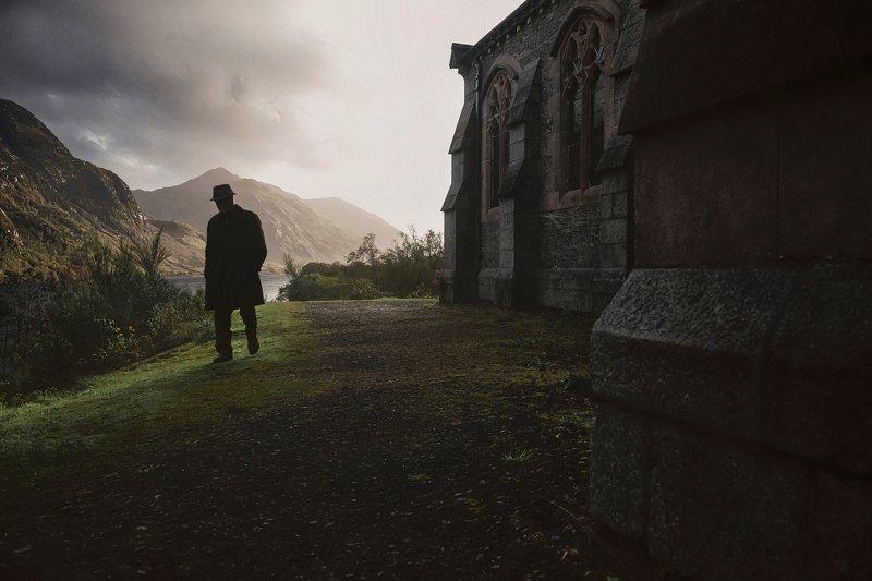 шотландия, закат, церковь Эпилогphoto preview