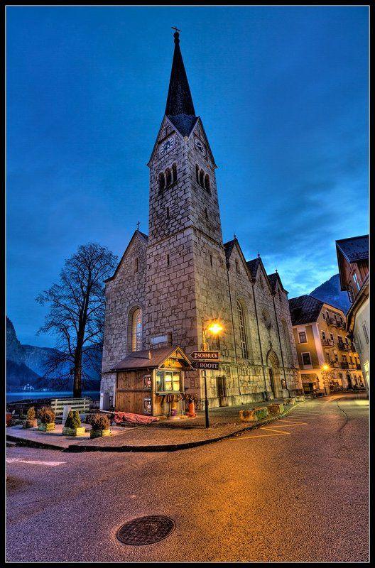 Вечер в альпийском городишкеphoto preview