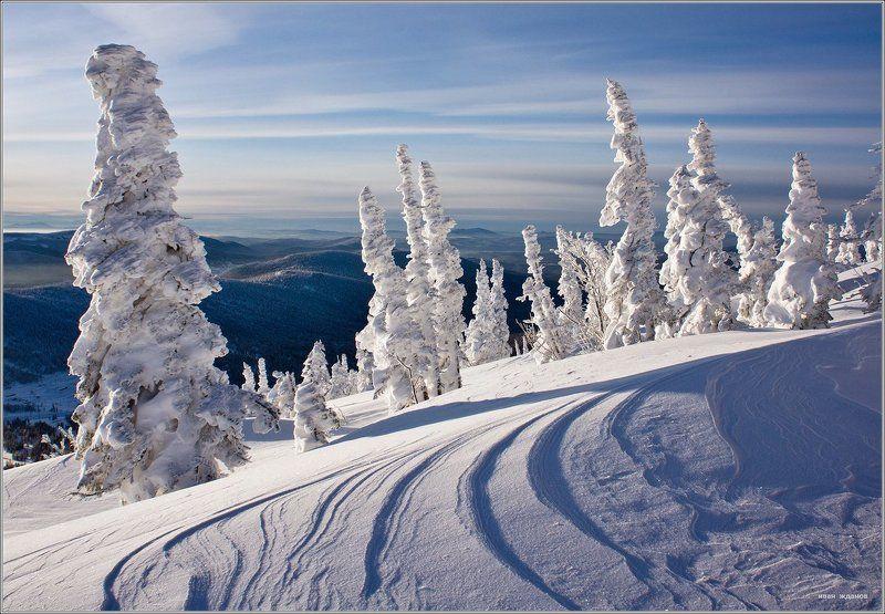горы, шерегеш, горная шория, зима, сибирь \