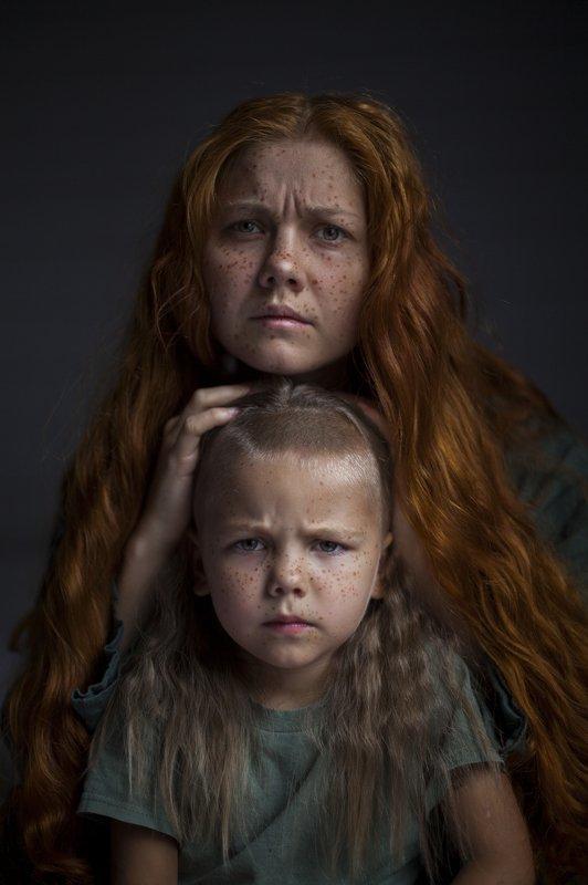 веснушки,мама и сын,рыжие волосы, Весна близко.photo preview