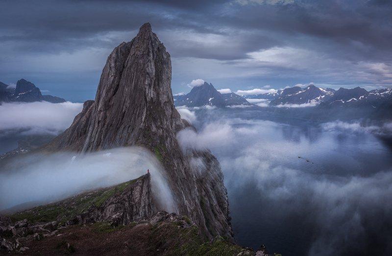 сенья, сегла, норвегия Облачный водопадphoto preview