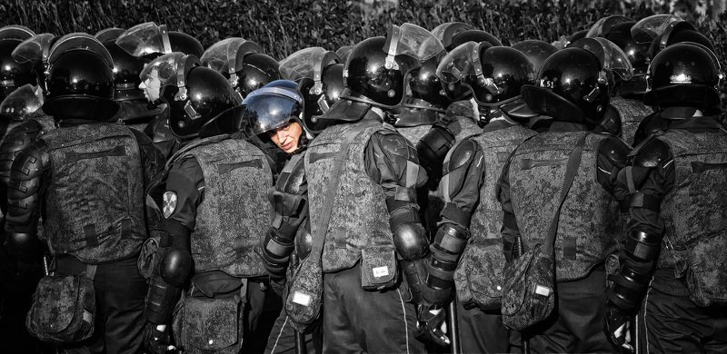 москва, омон, демонстация, митинг, пушкинская Сомнения выбораphoto preview