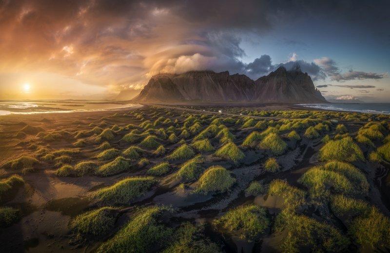 исландия стокснес Пролетая над дюнамиphoto preview