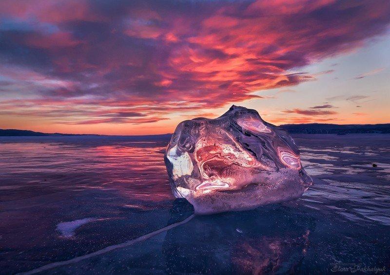 байкал,лед,пейзаж,закат,огненный,фототур,природа,россия,облака Ледяной бриллиантphoto preview