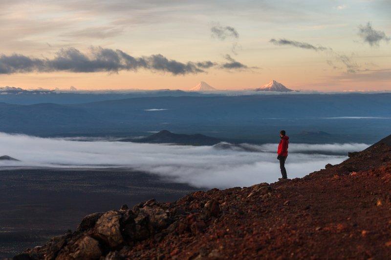 Камчатка, вулканы, человек, вулкан, пейзаж Мечтательphoto preview
