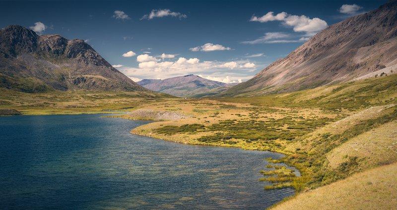 пейзаж, панорама, горы, озеро, алтай, сибирь, природа, путешествия, буйлюкем, ущелье, река, дно, камни Глубины Буйлюкемаphoto preview