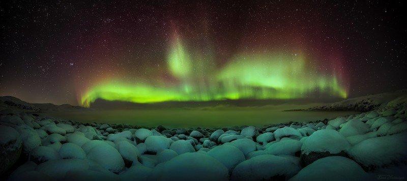 природа,россия,териберка,северный ледовитый,океан,северное сияние,океан,ночь,звезды,зима,пейзаж,фототур,кольский полуостров Северный Фениксphoto preview
