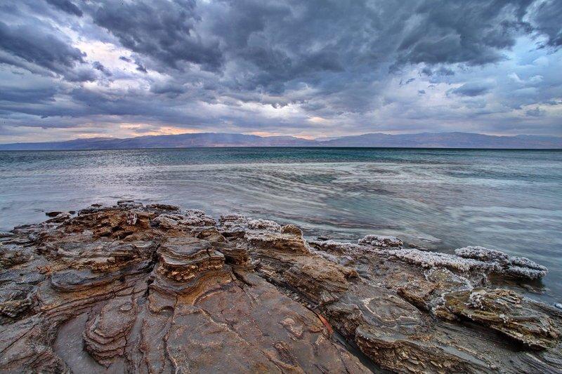 мертвое, море, небо, пейзаж, соль, dead sea, yām ha-melaḥ, стихии 4 стихииphoto preview