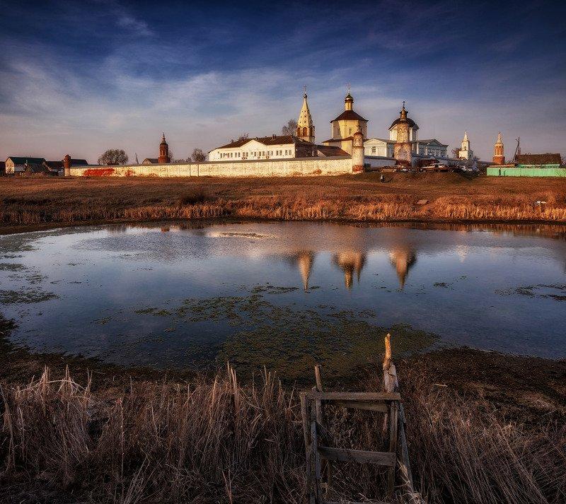 весна,закат,природа,пейзаж,монастырь,россия,коломна,православие Весенним днемphoto preview