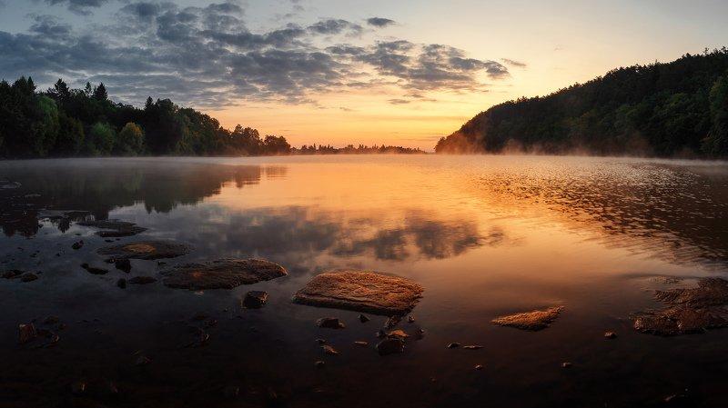 sunrise, dam, lake, sky Sunrise over the damphoto preview