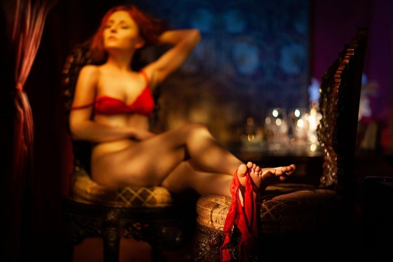 redhead, panties, fetisch, фетиш, boudoir, shadows, portrait, портрет, womaninred ***photo preview