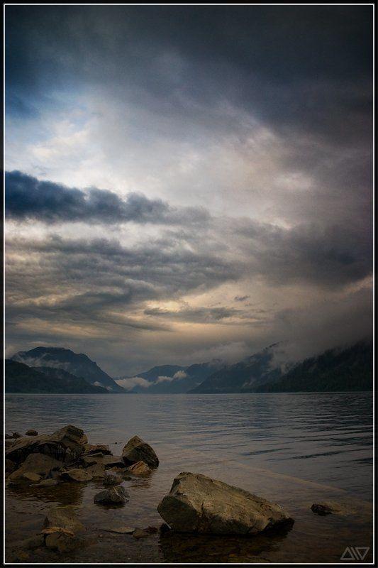 телецкое, озеро, вечер Перед грозойphoto preview