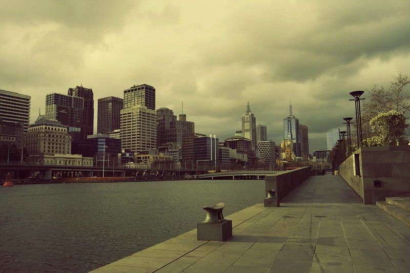 melbourne, australia, rain, cityscape, southbank Older Melbournephoto preview