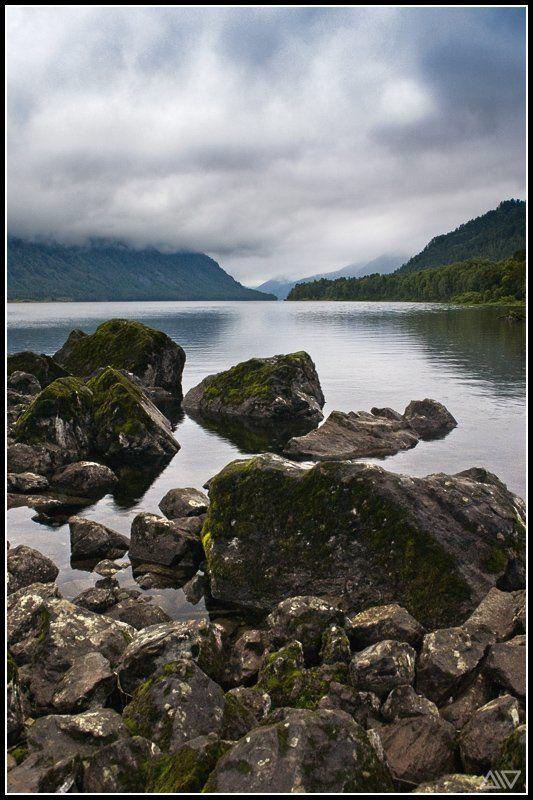 телецкое озеро, каменный залив, дождь Каменный заливphoto preview