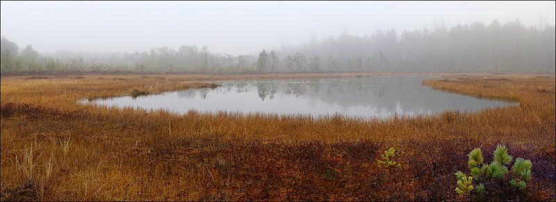 озеро, туман где-то на Уралеphoto preview