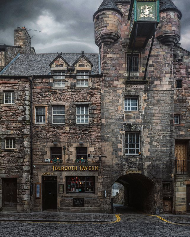 эдинбург, шотландия, город, архитектура Уходящееphoto preview