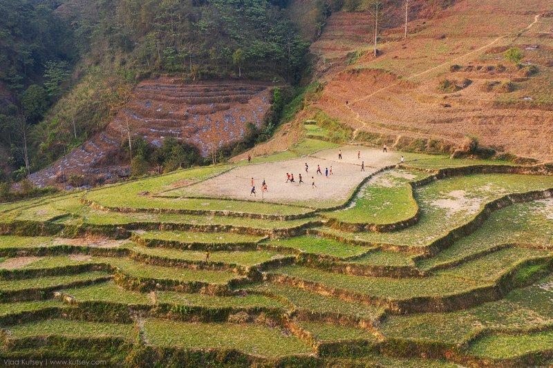футбол, поле, стадион, вьетнам, рисовые_террасы, рис, террасы, игра Играphoto preview