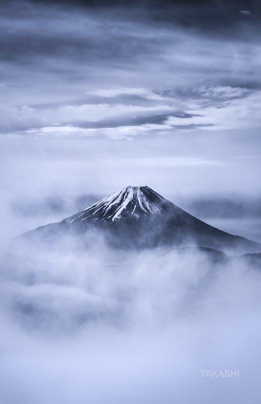 Fuji,Japan,mountain,fog,clouds, Fuji in cloudsphoto preview