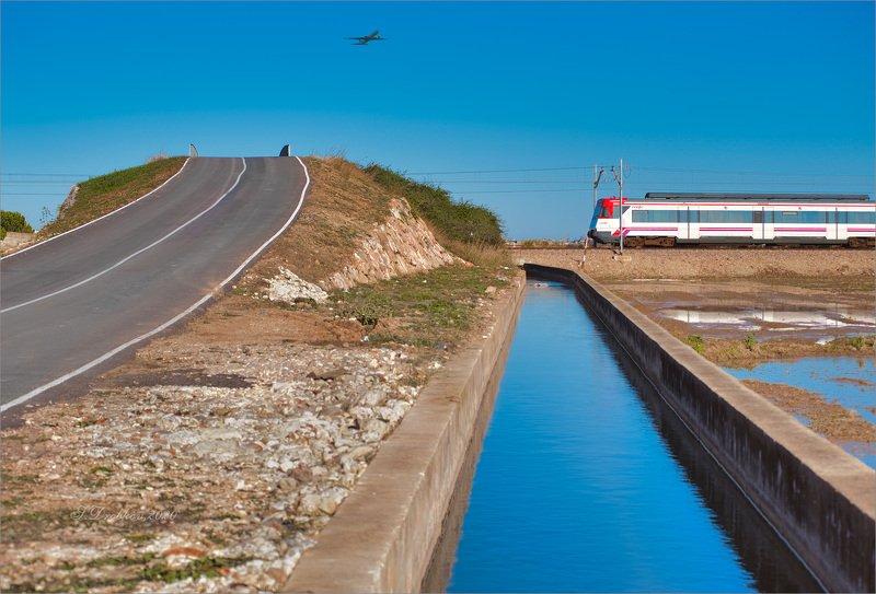 поезд, самолёт, вода, небо, дорога Наши путиphoto preview
