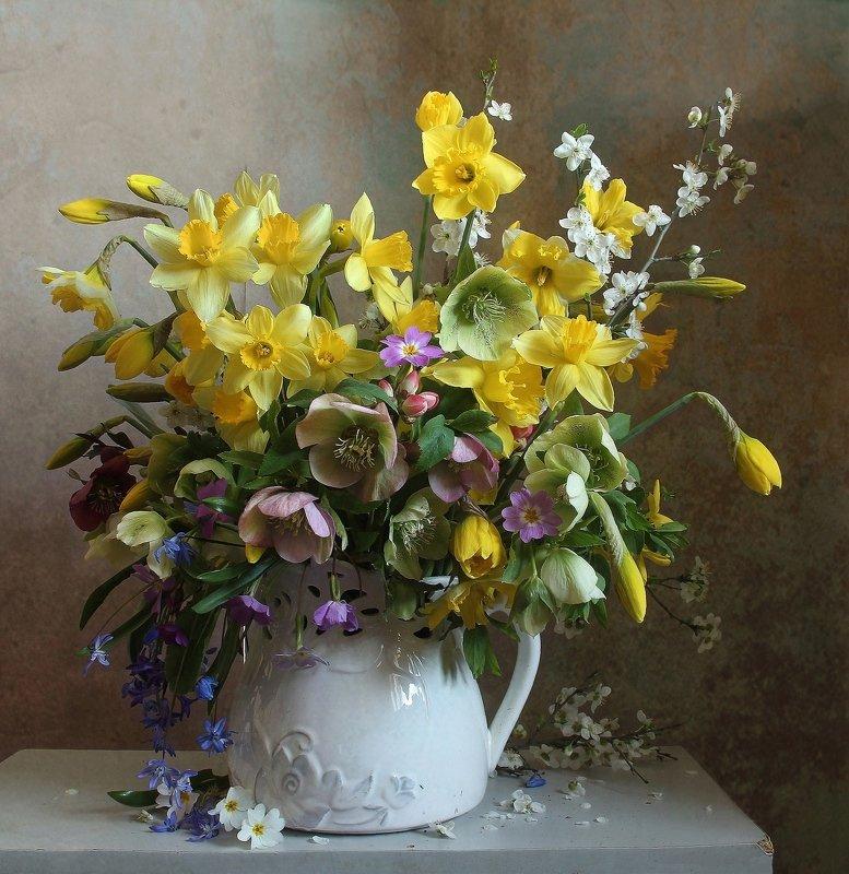 весна, натюрморт, букет цветов, нарциссы, марина филатова Пусть цветёт в твоём сердце апрельphoto preview