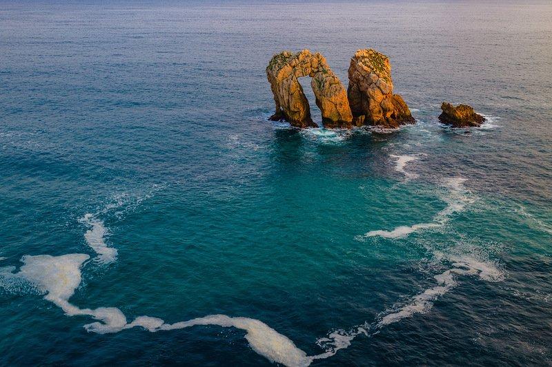 кантабрия, испания, море, скалы Зарисовка из Кантабрииphoto preview